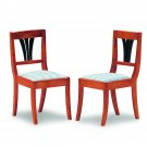 Biedermeier upholstered chairs, 2 pieces, kit