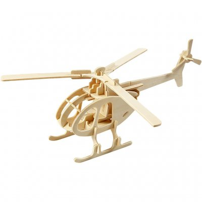 3D-pussel, Helikopter, stl. 26,5x14x26 cm, plywood,