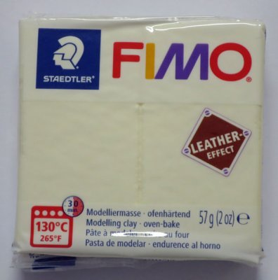 FIMO® Leather-effect, ivory, 57g
