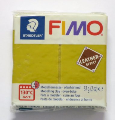 FIMO® Leather-effect, ockra, 57g