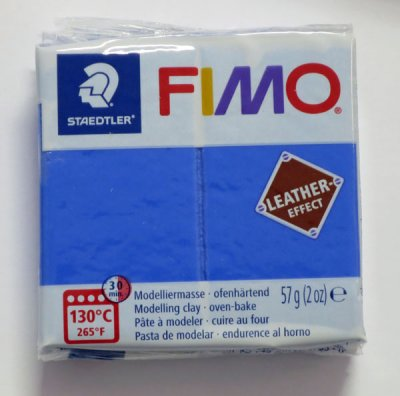 FIMO® Leather-effect, indigoblå, 57g
