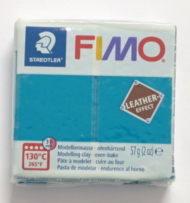FIMO® Leather-effect, lagunblå, 57g
