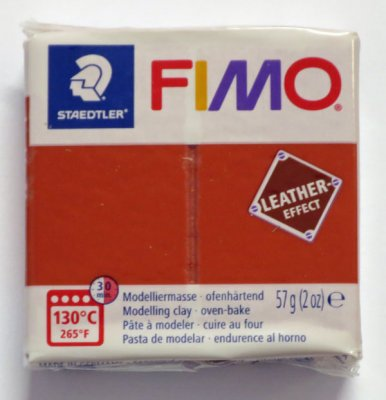 FIMO® Leather-effect, roströd, 57g