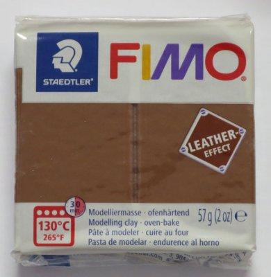 FIMO® Leather-effect, nötbrun, 57g