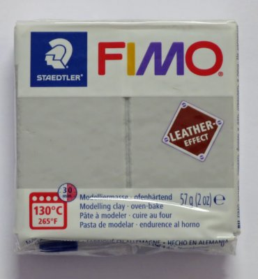 FIMO® Leather-effect grå, 57g