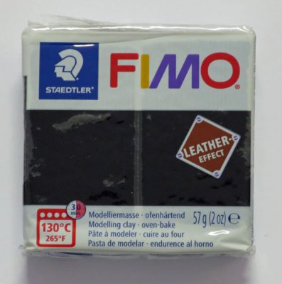 FIMO® Leather-effect svart, 57g